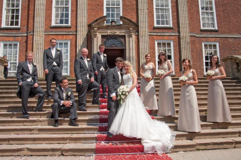 Bosworth Hall Wedding Main Steps Photo Opportunites