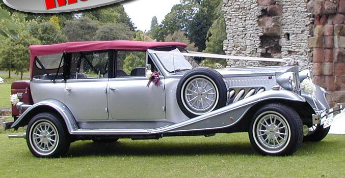 Silver Beauford Tourer Classic Wedding Car Hire
