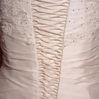 Finely laced wedding dress